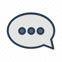 chat, comment, communication, message, message bubble, talk, typing icon