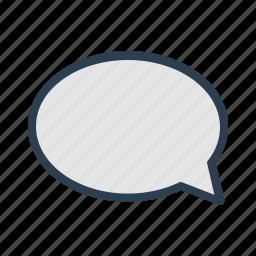 chat, comment, communication, message, message bubble, speech, talk icon