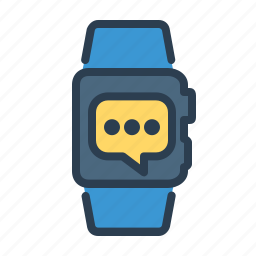 apple watch, bubble, chat, message, smart watch, sms, watch icon