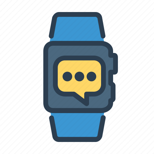 message, smart watch, sms, watch icon