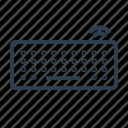 computer, cordless, input, keyboard, keys, type, wireless icon