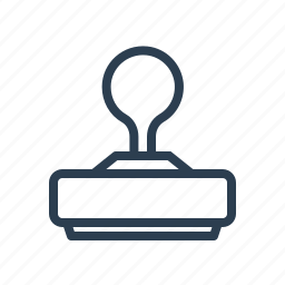 approved, clone, design, letter, press, stamp, tool icon