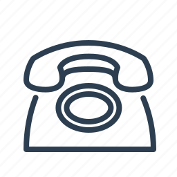 call, dial, landline, old, phone, telephone, vintage icon
