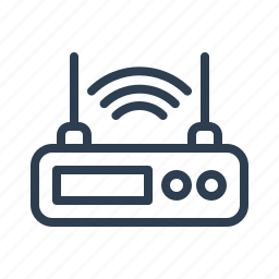 antenna, communication, internet, lan, modem, router, wifi icon