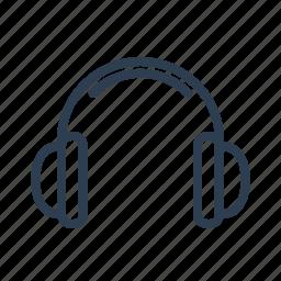 audio, earphone, headphones, listen, loud, multimedia, music icon