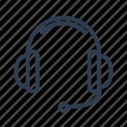audio, headphones, headset, microphone, speak, speakers, support icon
