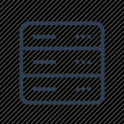 database, db, hosting, network, server, storage, web icon