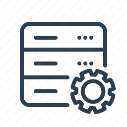 database, db, gear, options, server, settings, storage icon