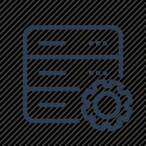 database, db, gear, options, server, settings, storage icon