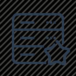 bookmark, database, db, favourite, server, star, storage icon