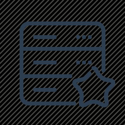 Bookmark, database, db, favourite, server, star, storage icon - Download on Iconfinder