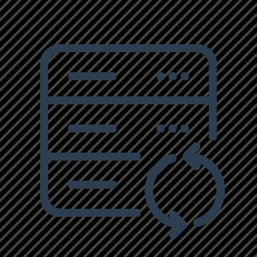 arrows, database, db, refresh, reload, server, storage icon