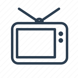 entertainment, retro, screen, television, tv, tvset, video icon