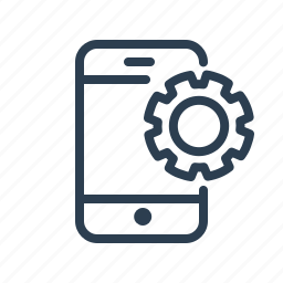 gear, mobile, options, phone, preferences, settings, smartphone icon