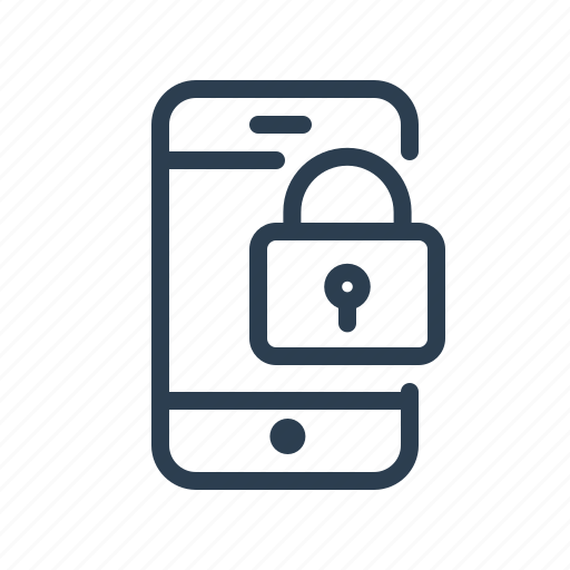 lock, locked, mobile, password, phone, private, safe icon