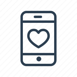 best, favoutire, flirt, heart, love, mobile, phone icon