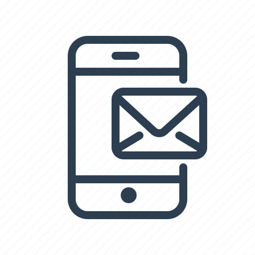 email, envelope, letter, mail, message, mobile, phone icon