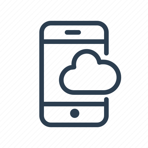 cloud, mobile, phone, smartphone, storage, sync, upload icon