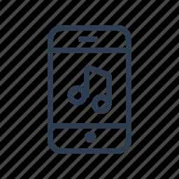 audio, ipod, listen, mobile, music, nota, phone icon
