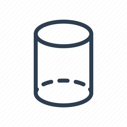 cylinder, figure, geometry, model, pillar, pipe, shape icon