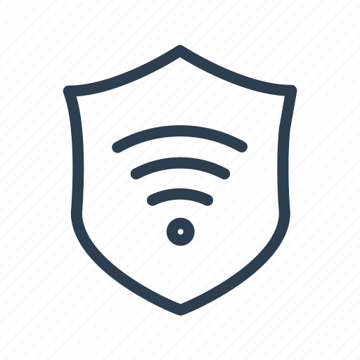 antivirus, connection, network, protected, safe, shield, wifi icon