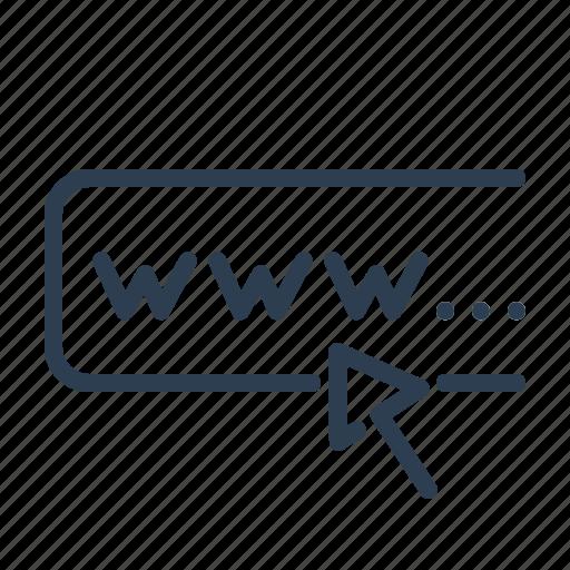 address, domain, link, marketing, url, web, www icon