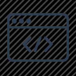 clean code, coding, computer, custom development, development, monitor, programming icon