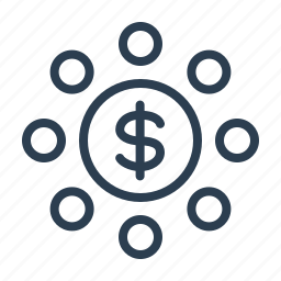 budget, dollar, income, investment, money, profit, revenue icon