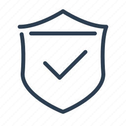 brand protection, checkmark, guard, protection, safety, secure, shield icon