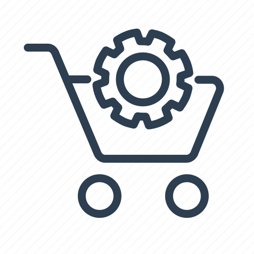 Basket, cart, ecommerce, gear, settings, shop, shopping bag icon - Download on Iconfinder