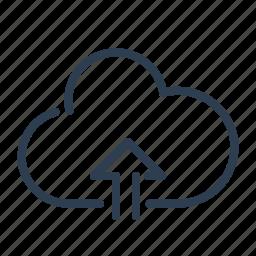arrow up, backup, cloud, ftp, storage, upload, uploading icon