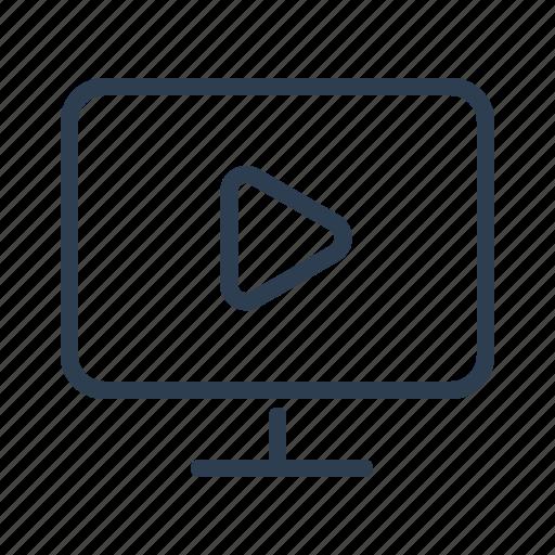 computer, marketing, media, movie, screen, technology, video icon