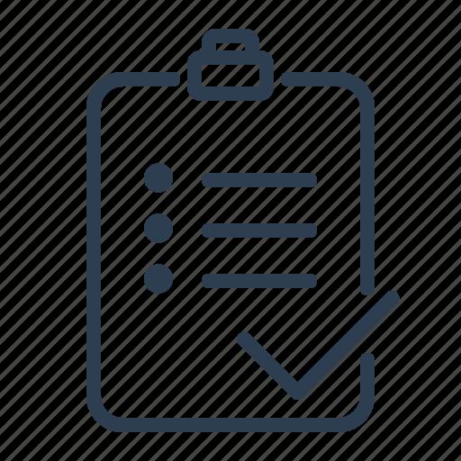 Checklist, checkmark, clipboard, list, report, tasks, todo list icon - Download on Iconfinder