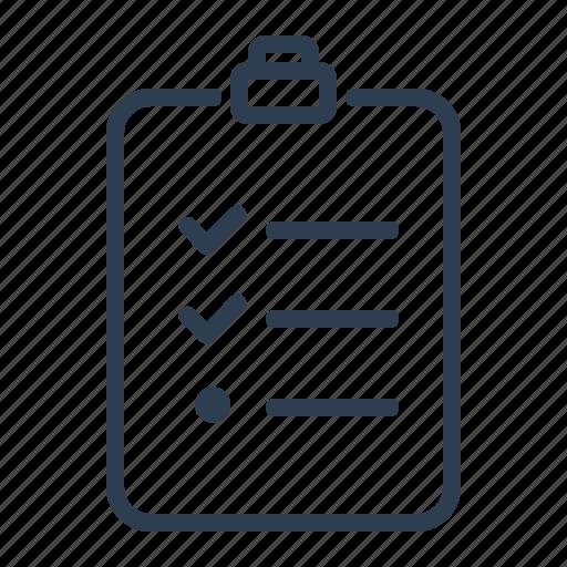 checklist, checkmark, clipboard, list, surgery, tasks, todo list icon