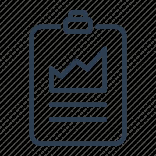 Analysis, chart, clipboard, diagramm, presentation, sales report, statistics icon - Download on Iconfinder