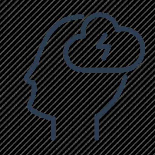 Brain, brainstorm, creative, creativity, head, lightning, mind icon - Download on Iconfinder