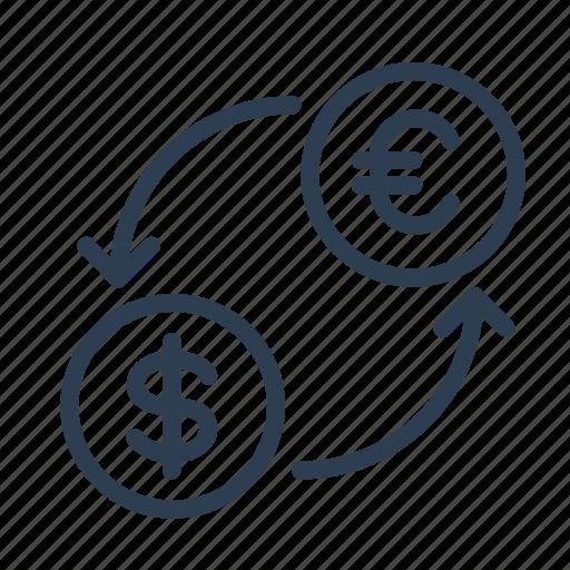 bank, currency, dollars, euro, exchange, money, rate icon