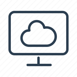 cloud computing, computer, online storage, screen, share, sharing, weather icon