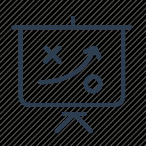 blackboard, conference, efficiency, plan, scheme, strategy, training icon