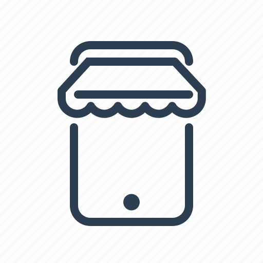 application, cart, ecommerce, mobile shop, online shopping, sale, smartphone icon