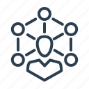 collaboration, community, connection, person, social network, team, teamwork icon