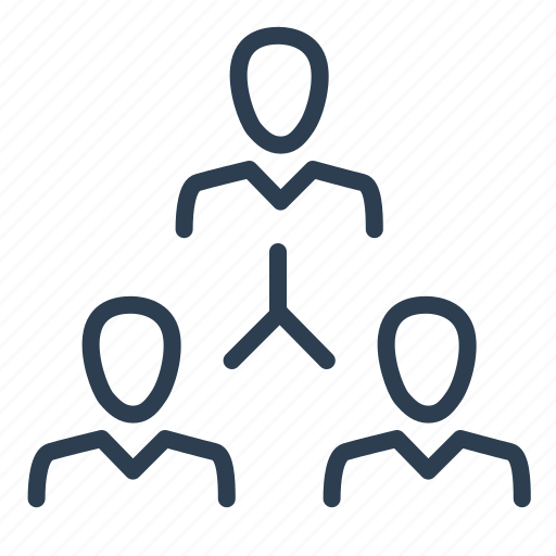 company, connection, hierachy, leader, management, team building, teamwork icon