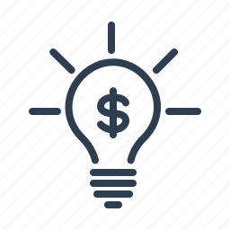 budget, budget plan, bulb, business idea, dollar, investment, marketing icon