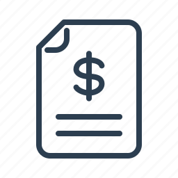 budget, check, checkout, document, dollar, invoice, sales report icon
