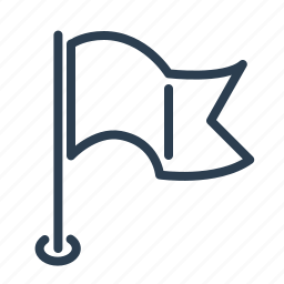 deadline, finish, finished, flag, map, milestone, stop point icon
