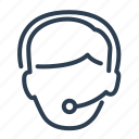 assistant, consultant, customer service, headphones, help, support, technical support icon