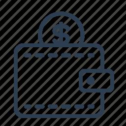 cash, coin, dollar, money, shopping, usd, wallet icon