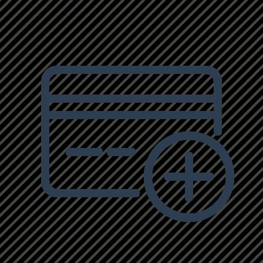 add, banking, credit card, debit, edit, payment method, plus icon