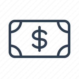 banknote, billing, cash, currency, dollar, money, usd icon