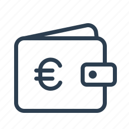 bank, cash, euro, finance, money, shopping, wallet icon